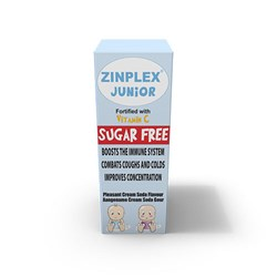 Picture of ZINPLEX JUNIOR SYRUP - SUGAR FREE - 200ML