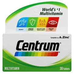Picture of CENTRUM ADULT MULTIVITAMIN TABLETS - 30'S