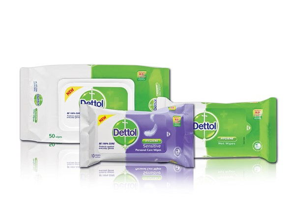 Picture of DETTOL HYGIENE WIPES - ASSORTED - 10'S