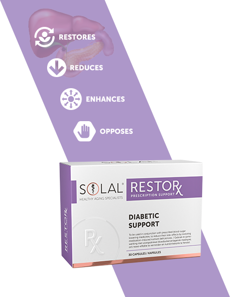 Picture of SOLAL RESTORX DIABETIC SUPPORT - 30'S