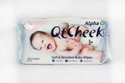 Picture of ALPHA CLIN QTCHEEKS SOFT & SENSITIVE BABY WIPES - 60'S
