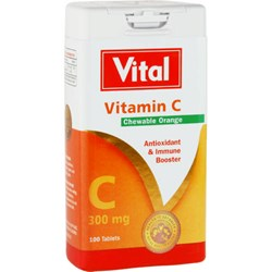 Picture of VITAL VITAMIN C CHEWABLE TABLETS - 90'S
