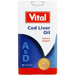 Picture of VITAL COD LIVER OIL CAPSULES - 90'S