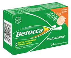 Picture of BEROCCA PERFORMANCE EFFERVESCENT TABLETS - 20'S