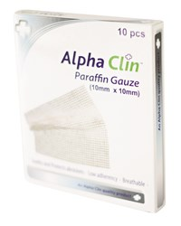 Picture of ALPHA CLIN PARAFFIN GAUZE 100 X 100 - 10'S