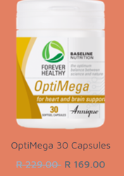 Picture of ANNIQUE SUPPLEMENTS - OPTIMEGA - HEART AND BRAIN SUPPORT