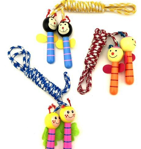 Picture of WOODEN CHARACTERS SKIPPING ROPES