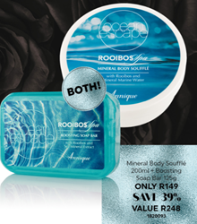 Picture of ANNIQUE - OCEAN ESCAPES - MINERAL BODY SOUFFLE & BOOSTING SOAP BAR