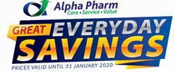 Picture for category Alpha Pharm Specials - November - January 2020