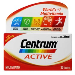 Picture of CENTRUM ACTIVE TABLETS - 30's