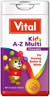 Picture of VITAL KIDS A-Z MULTI-CHEWABLE TABLETS - 60'S