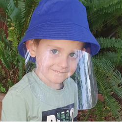 Picture of PROTECTIVE CHILDREN'S BUCKET HAT - WITH DETACHABLE SHIELD