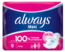 Picture of ALWAYS MAXI COTTON SOFT LONG - 9'S