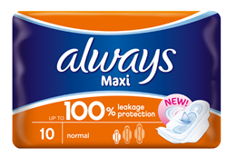 Picture of ALWAYS MAXI NORMAL - 10'S