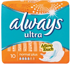 Picture of ALWAYS ULTRA NORMAL PLUS 10'S