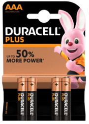 Picture of DURACELL PLUS BATTERIES - AAA - 4'S