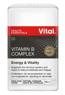 Picture of VITAL B COMPLEX CAPSULES - 60'S