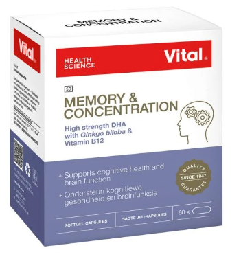 Picture of VITAL MEMORY & CONCENTRATION CAPSULES - 60'S